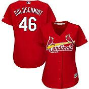 Majestic Women's Replica St. Louis Cardinals Paul Golsdchmidt #46 Cool Base Alternate Red Jersey