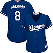 Majestic Women's Replica Los Angeles Dodgers Manny Machado #8 Cool Base Alternate Royal Jersey