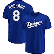 Majestic Men's Los Angeles Dodgers Manny Machado #8 Royal T-Shirt