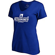 Majestic Women's Los Angeles Dodgers 2018 MLB Postseason Royal V-Neck T-Shirt