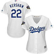 Majestic Women's 2018 World Series Replica Los Angeles Dodgers Clayton Kershaw Cool Base Home White Jersey