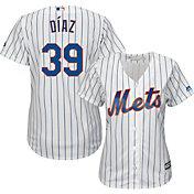 Majestic Women's Replica New York Mets Edwin Diaz #39 Cool Base Home White Jersey