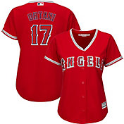 Majestic Women's Replica Los Angeles Angels Shohei Ohtani #17 Cool Base Alternate Red Jersey