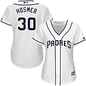Majestic Women's Replica San Diego Padres Eric Hosmer #30 Cool Base Home White Jersey