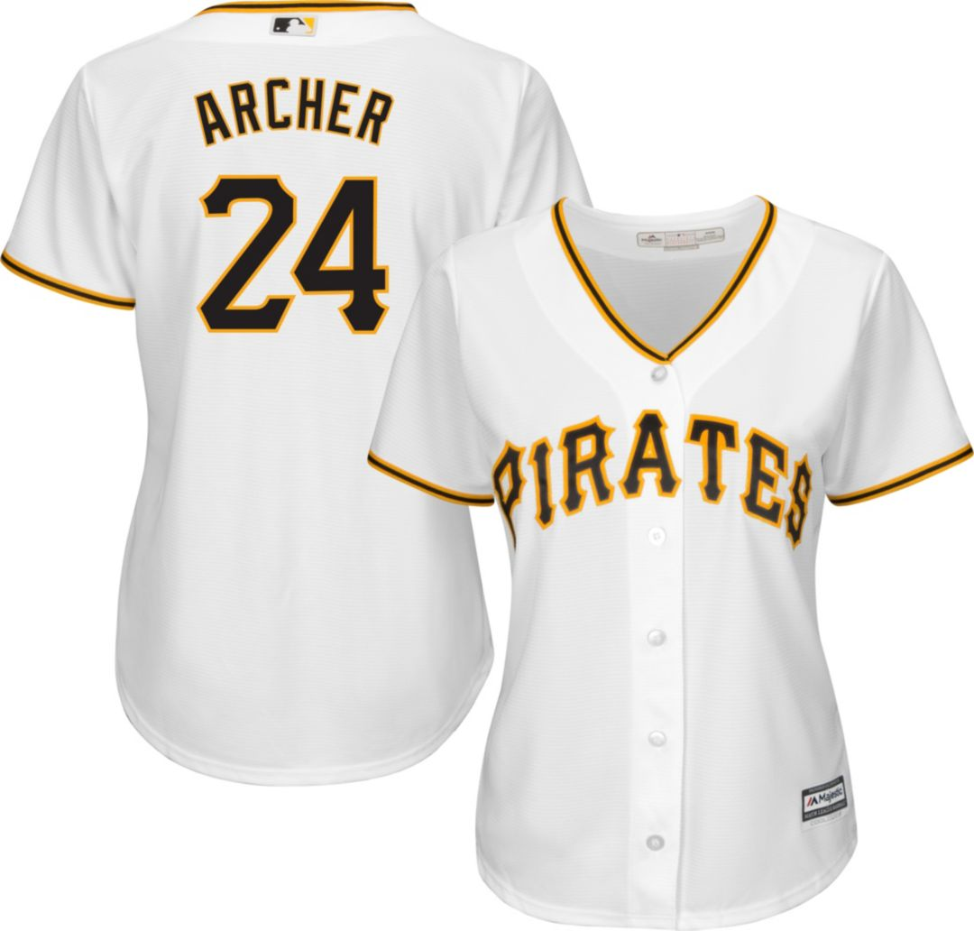 huge discount c5f50 7a1cb Majestic Women's Replica Pittsburgh Pirates Chris Archer #24 Cool Base Home  White Jersey