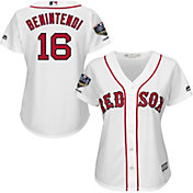 Majestic Women's 2018 World Series Champions Replica Boston Red Sox Andrew Benintendi Cool Base Home White Jersey