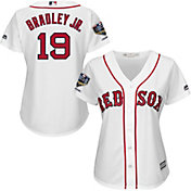 Majestic Women's 2018 World Series Champions Replica Boston Red Sox Jackie Bradley Jr. Cool Base Home White Jersey