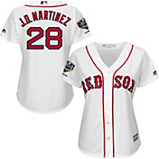 Majestic Women's 2018 World Series Champions Replica Boston Red Sox J.D. Martinez Cool Base Home White Jersey