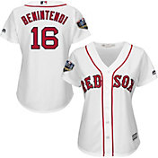 Majestic Women's 2018 World Series Replica Boston Red Sox Andrew Benintendi Cool Base Home White Jersey
