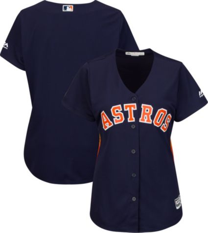 fefaa3aef Majestic Women s Replica Houston Astros Cool Base Alternate Navy Jersey.  noImageFound