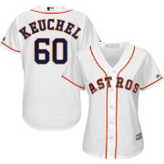 Majestic Women's Replica Houston Astros Dallas Keuchel #60 Cool Base Home White Jersey