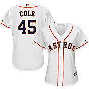 Majestic Women's Replica Houston Astros Gerrit Cole #45 Cool Base Home White Jersey