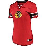 Majestic Women's Chicago Blackhawks Draft Me Red V-Neck T-Shirt