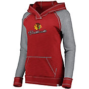 NHL Women's Chicago Blackhawks Hyper Red V-Neck Pullover Hoodie