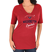 Majestic Women's Washington Capitals My Team Red V-Neck T-Shirt
