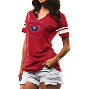 Majestic Women's Washington Capitals Magic Moment Red Heathered V-Neck T-Shirt
