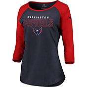 NHL Women's Washington Capitals Iconic Red 3/4 Sleeve Shirt