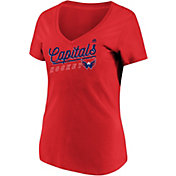 Majestic Women's Washington Capitals Goal Cage Red V-Neck T-Shirt