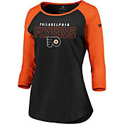 NHL Women's Philadelphia Flyers Iconic Orange 3/4 Sleeve Shirt