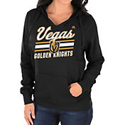 Majestic Women's Vegas Golden Knights Backcheck Black Pullover Hoodie