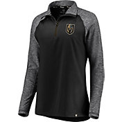 NHL Women's Vegas Golden Knights Match to Match Black Quarter-Zip Pullover