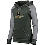 NHL Women's Vegas Golden Knights Hyper Grey V-Neck Pullover Hoodie