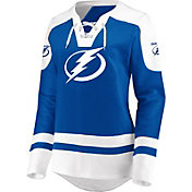 NHL Women's Tampa Bay Lightning Lace Up Royal Pullover Hoodie
