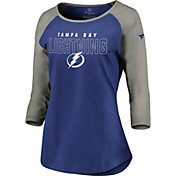 NHL Women's Tampa Bay Lightning Iconic Heather Grey 3/4 Sleeve Shirt