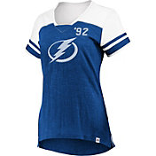 Majestic Women's Tampa Bay Lightning Hyper Blue V-Neck T-Shirt
