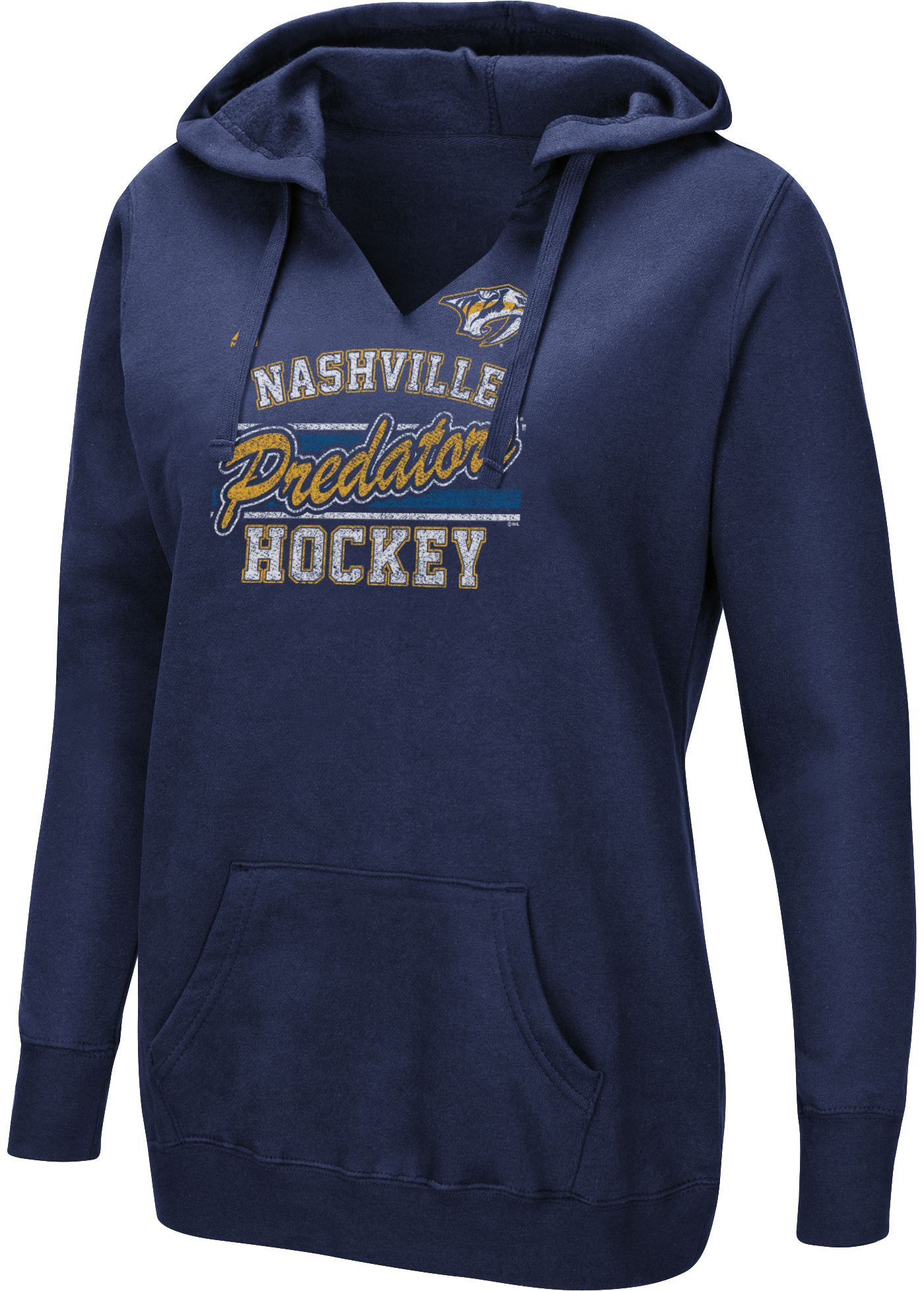 Majestic Women's Nashville Predators Raise The Level Navy Hoodie