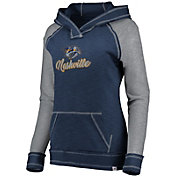 NHL Women's Nashville Predators Hyper Navy V-Neck Pullover Hoodie