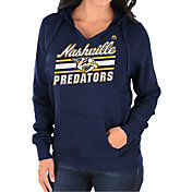 Majestic Women's Nashville Predators Backcheck Navy Pullover Hoodie