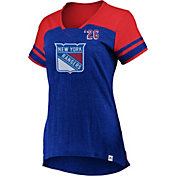 Majestic Women's New York Rangers Hyper Blue V-Neck T-Shirt