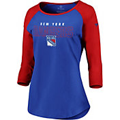 NHL Women's New York Rangers Iconic Red 3/4 Sleeve Shirt