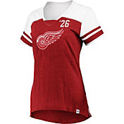 Majestic Women's Detroit Red Wings Hyper Red V-Neck T-Shirt
