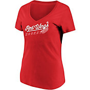 Majestic Women's Detroit Red Wings Goal Cage Red V-Neck T-Shirt