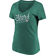 Majestic Women's Dallas Stars Goal Cage Green V-Neck T-Shirt