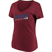 Majestic Women's Colorado Avalanche Goal Cage Red V-Neck T-Shirt
