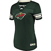 Majestic Women's Minnesota Wild Draft Me Green V-Neck T-Shirt