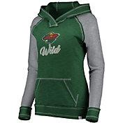 NHL Women's Minnesota Wild Hyper Green V-Neck Pullover Hoodie