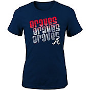 Majestic Youth Girls' Atlanta Braves 3-Peat T-Shirt