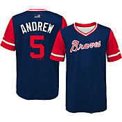 "Majestic Youth Atlanta Braves Freddie Freeman ""Andrew"" MLB Players Weekend Jersey Top"
