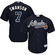 Youth Replica Atlanta Braves Dansby Swanson #7 Alternate Navy Jersey