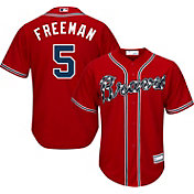 Youth Replica Atlanta Braves Freddie Freeman #5 Alternate Red Jersey
