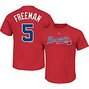 Majestic Youth Atlanta Braves Freddie Freeman #5 Red T-Shirt