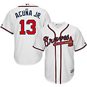 Youth Replica Atlanta Braves Ronald Acuña #13 Home White Jersey