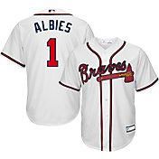 Youth Replica Atlanta Braves Ozzie Albies #1 Home White Jersey