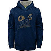 Majestic Youth Milwaukee Brewers Battle Pullover Hoodie