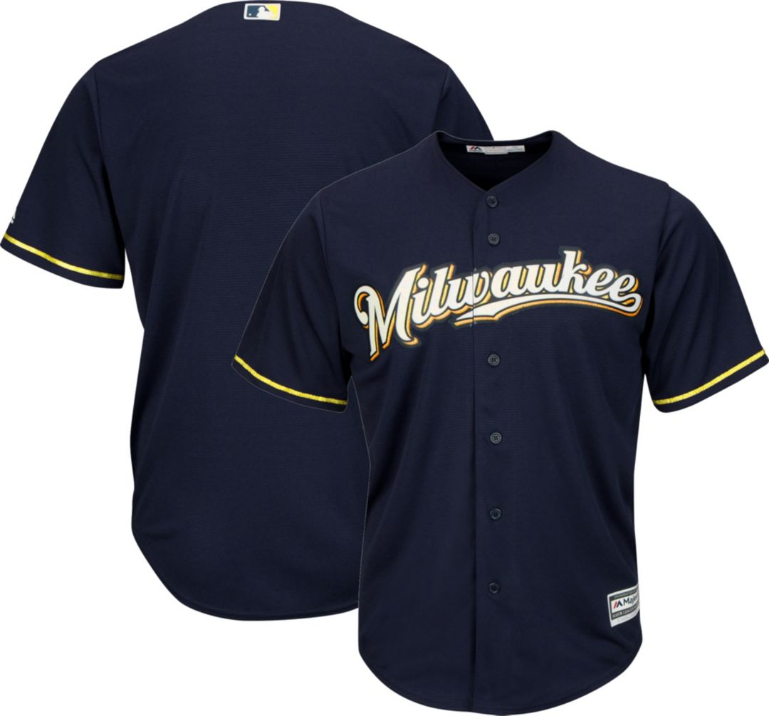 check out f146a 520f1 Youth Replica Milwaukee Brewers Alternate Navy Jersey