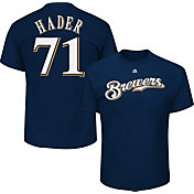 Majestic Youth Milwaukee Brewers Josh Hader #71 Navy T-Shirt